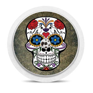 Freestyle Libre sensor sticker: Colorful skull