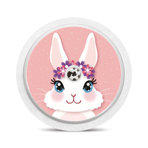 Freestyle Libre sensor sticker: Cute rabbit