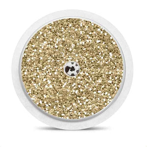 Freestyle Libre sensor sticker: Gold glitter