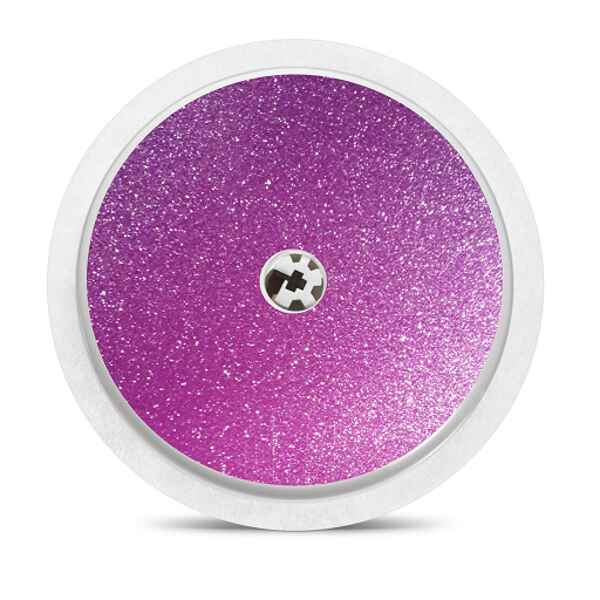 Freestyle Libre sensor sticker: Purple glitter