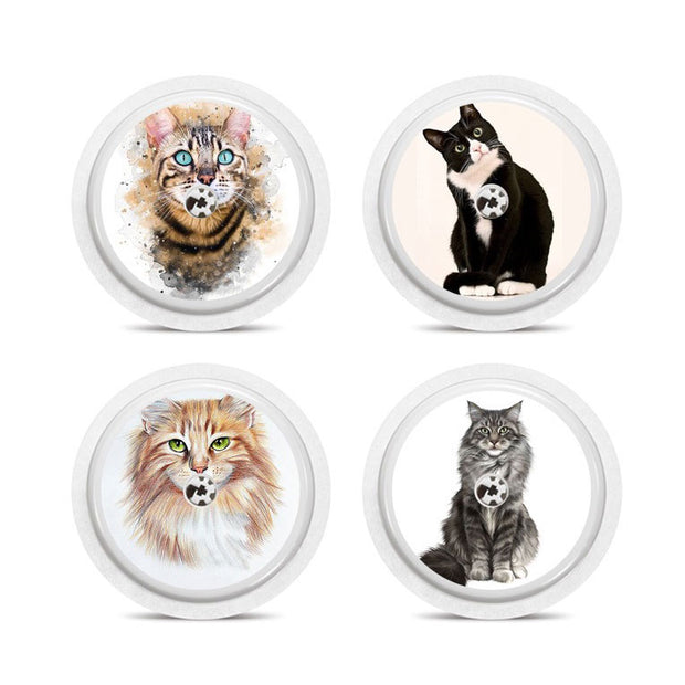 Freestyle Libre 4 sensor stickers: Cats