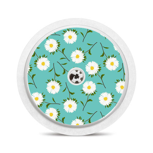 Freestyle Libre sensor sticker: Daisies
