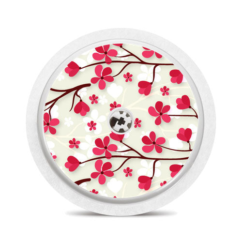 Freestyle Libre sensor sticker: Japanese flowers