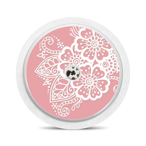 Freestyle Libre sensor sticker: Lace on pink