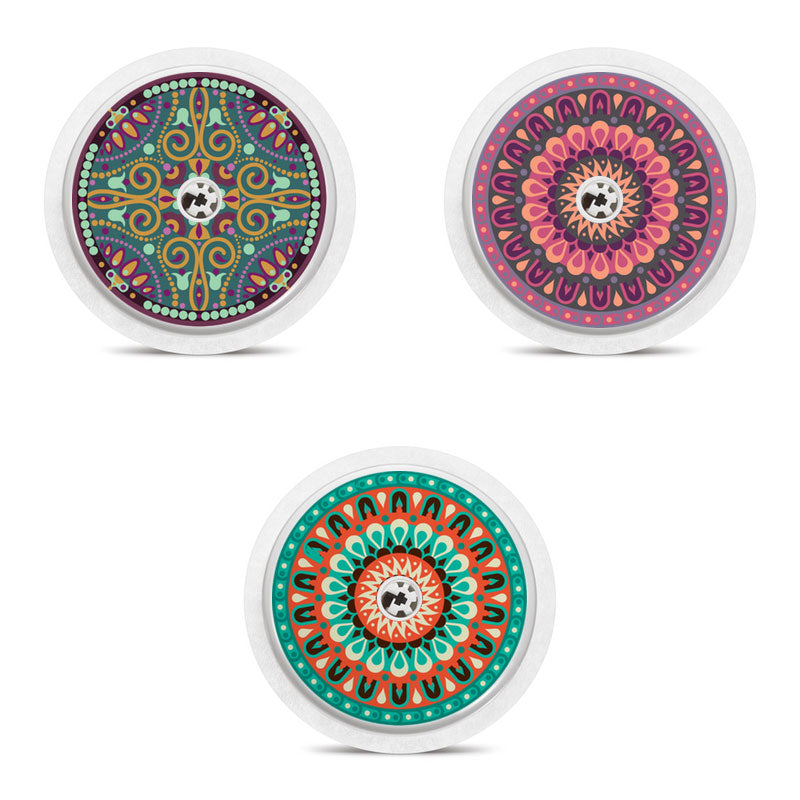 Freestyle Libre 3 sensor stickers: Mandalas
