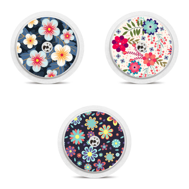 Freestyle Libre 3 sensor stickers: Flowers