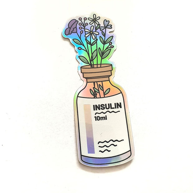 Organising Chaos Insulin Vase Holographic Sticker