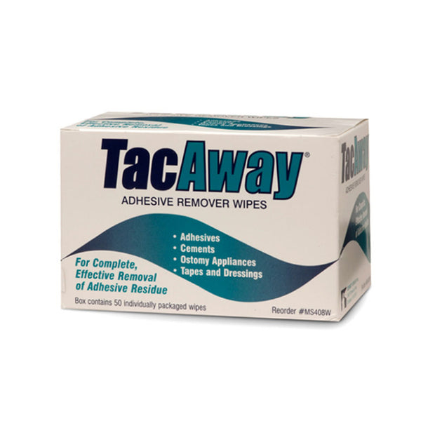 Tac Away Adhesive remover wipes