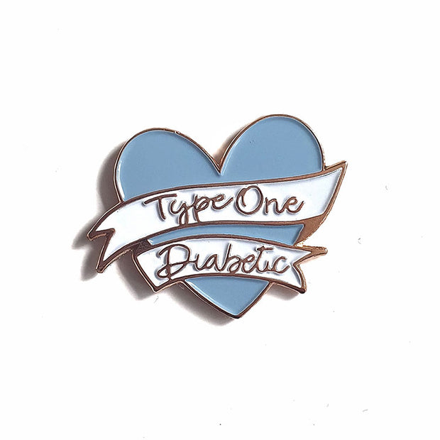 Organising Chaos Diabetes Awareness Blue Heart Enamel Pin
