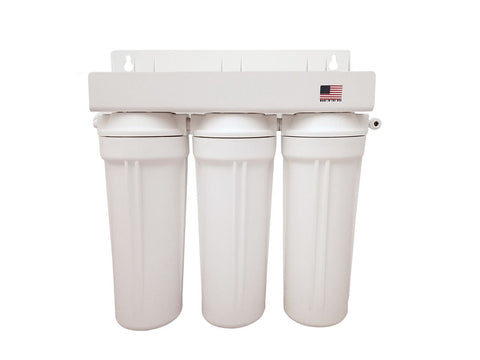 "Well Water Under Sink Filter System 3 KDF 10"" Filters"