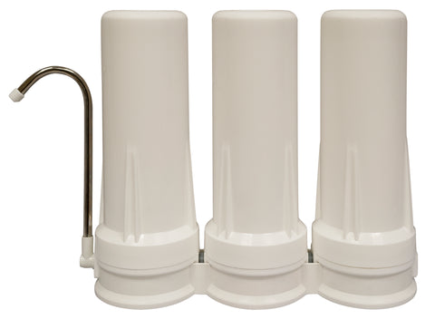 Well Water Triple Countertop Filter System