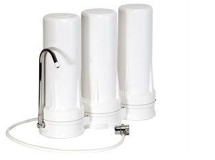 Alkaline Balancing Triple Counter Top Filter System