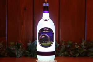 Baltimore Ravens Football Bottle Light