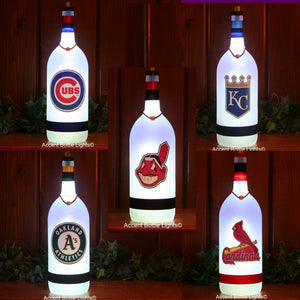 Frosted Glass Baseball Team Lamps