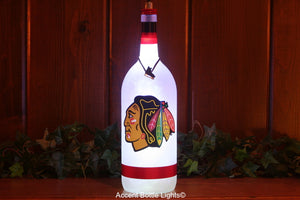 Chicago Blackhawks Hockey Bottle Light