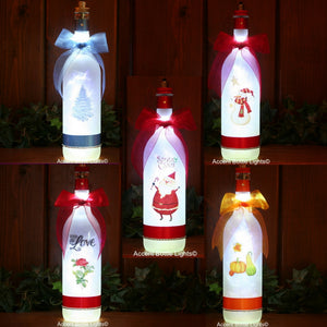 Christmas and Seasonal Frosted Glass Wireless LED Lamps