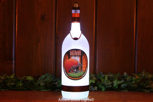Cleveland Browns Football Bottle Light