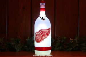 Detroit Redwings Hockey Bottle Light