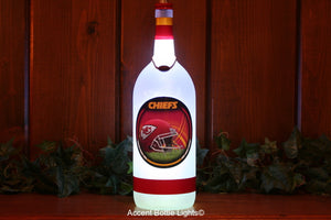 Kansas City Chiefs Football Bottle Light