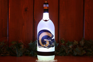Los Angeles Rams Football Bottle Light