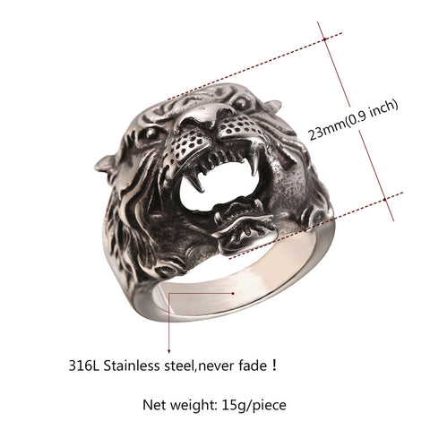 Tiger Ring - 316L Stainless Steel