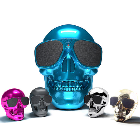 Portable Min Bluetooth Speaker Skull Pattern Wireless