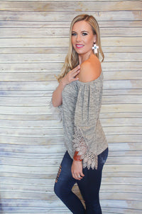 Off Shoulder Lace Sleeve