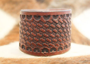 Leather Cuff by Joe Weyant