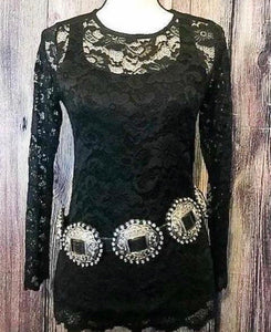Midnight Black Lace Top