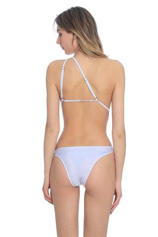 FB684# White Solid Wrap Around Cut Out One Piece Swimsuit * - Cobunny