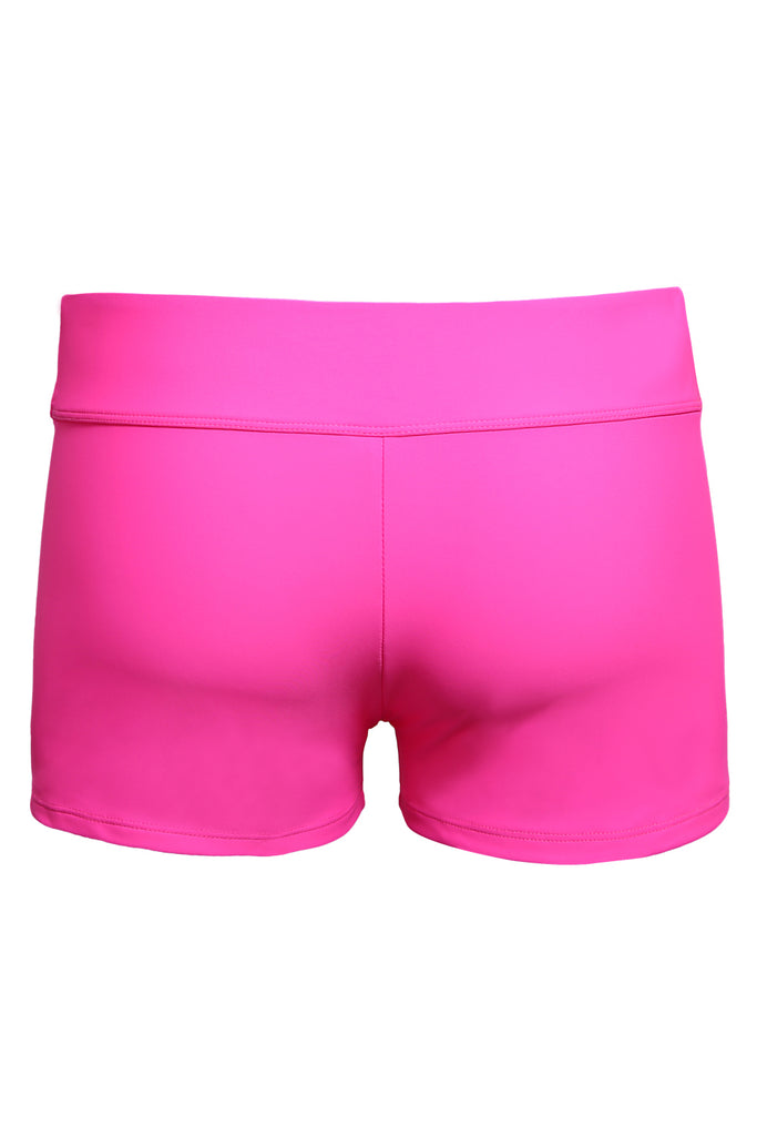 Rosy Wide Waistband Swimsuit Bottom Shorts