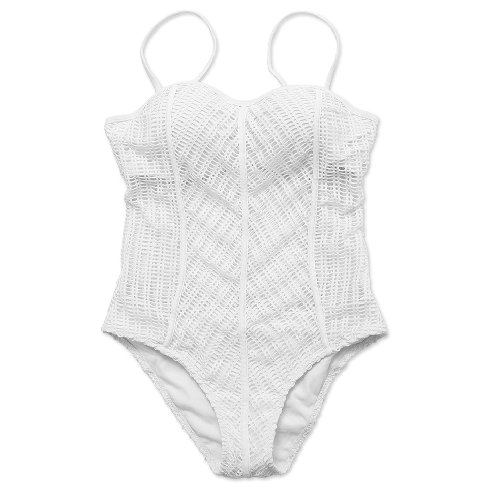 FB555# Mesh Push Up Bandeau One Piece Swimsuit * - Cobunny