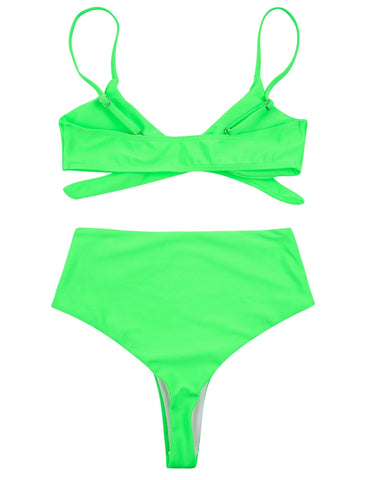 PF015# Front Cross High Waist Bikini Set * - Cobunny