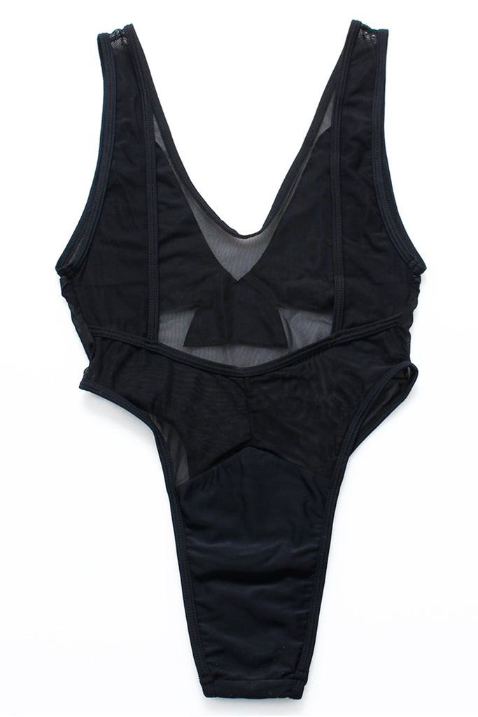 FB701# Mesh Eagle Print Wing High Cut One Piece Swimsuit * - Cobunny
