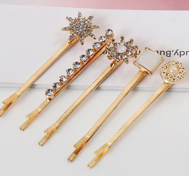 Geometric Hair pin set