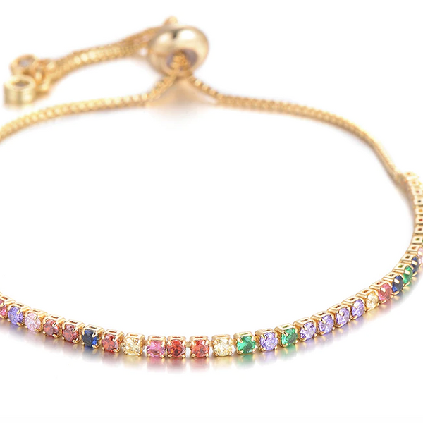 Rainbow tennis Pully bracelet
