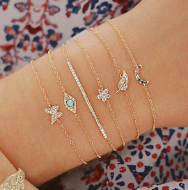 Dainty bracelet collection