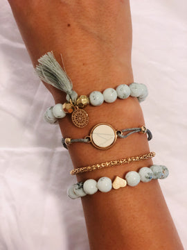 Beads & Chains Bracelet set