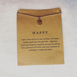Happy Buddha Wish Card