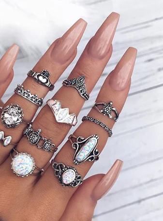 Opal Lover ring set