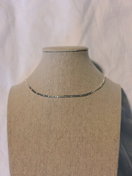 Figaro Chain Necklace Silver