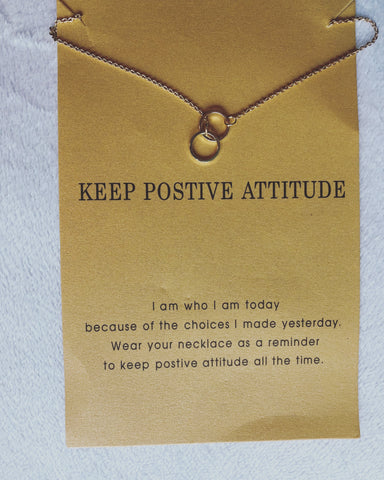 Positive Attitude wish card