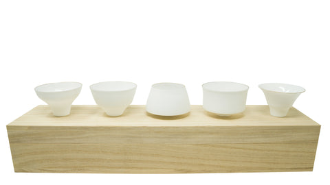 Egg Shell Sake Cup Set 5 Piece
