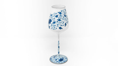 Rice Wine Glass Blue