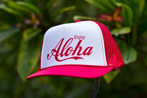 ENJOY ALOHA TRUCKER HAT