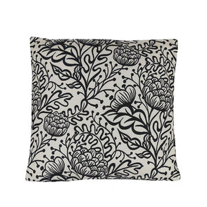 Floral Black Cushion