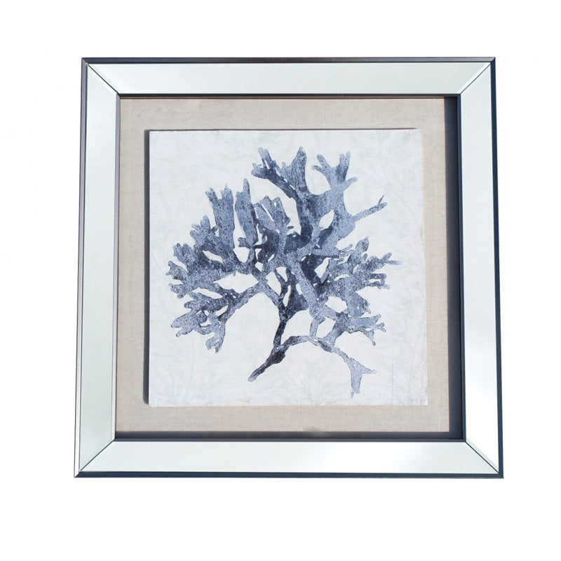 Framed Coral Blue 2