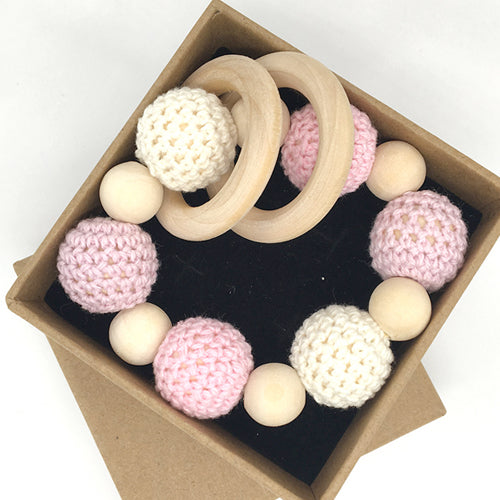 Wooden Crochet Teething Toy