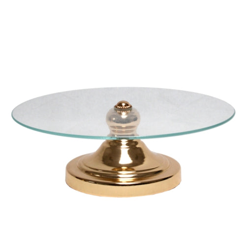 Glass Gold Cake Stand