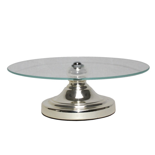 Glass Silver Cake Stand
